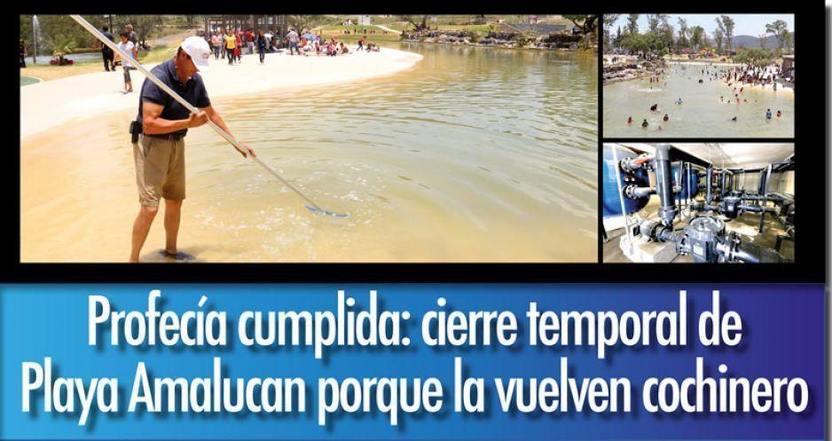 Profecía cumplida: cierre temporal de Playa Amalucan porque la vuelven cochinero