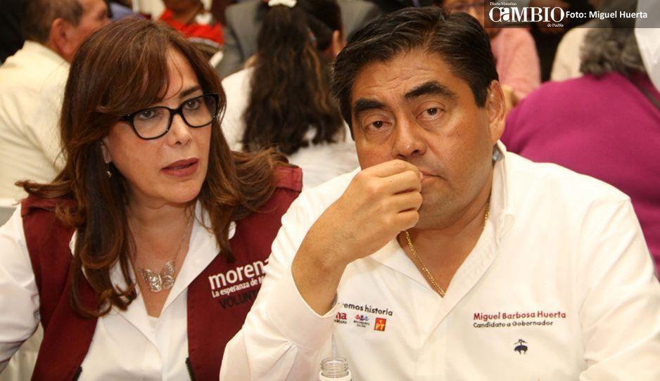 Yeidckol sostiene que Barbosa será otra vez el candidato de Morena pese a ola de críticas
