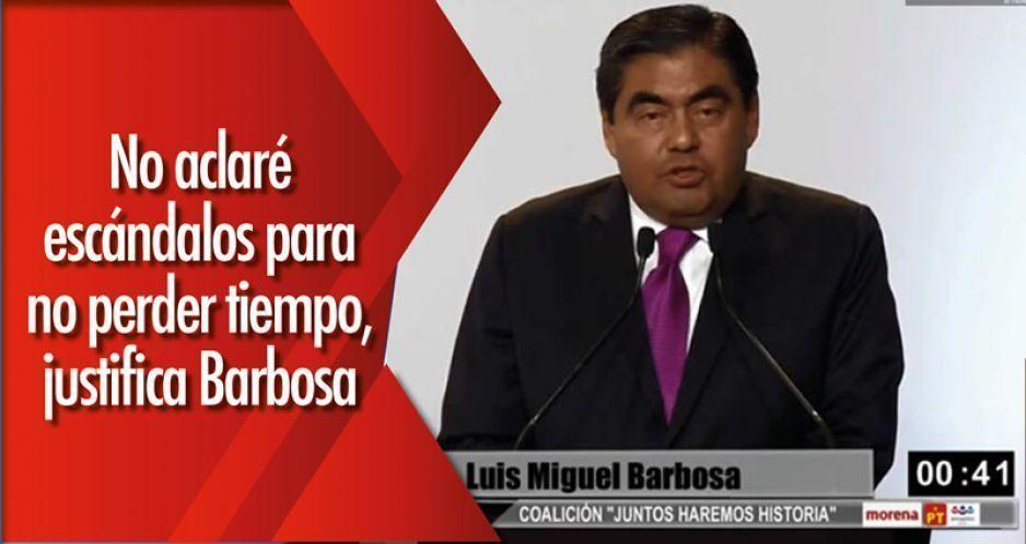 No aclaré escándalos para no perder tiempo, justifica Barbosa