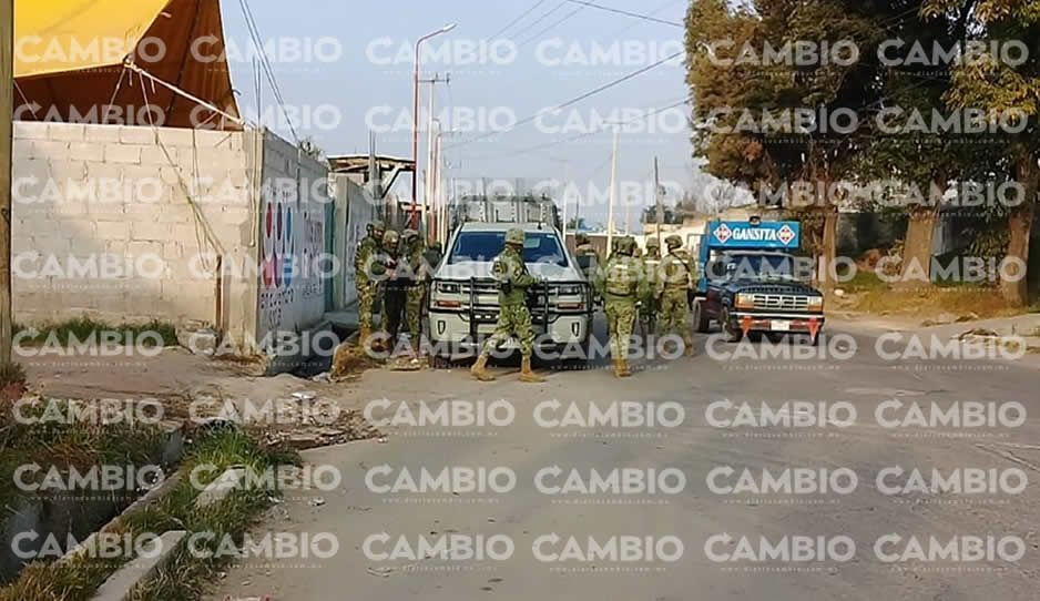 Marina y SEIDO realizan operativo en la colonia Purísima de Texmelucan por presencia de huachicoleros