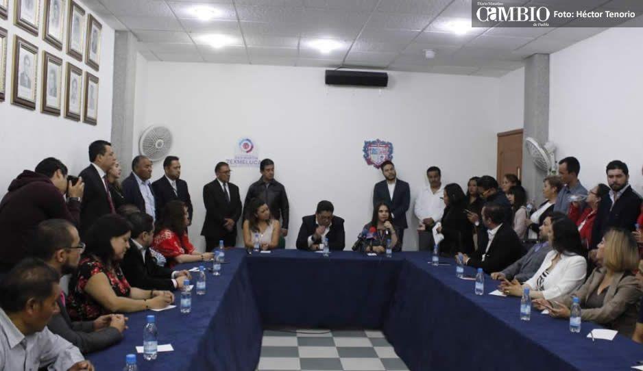 Sostienen primer encuentro edil sustituto y alcaldesa electa de Texmelucan