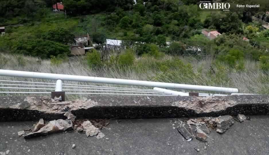 Vandalizan mirador del cerro de San Miguel en Atlixco
