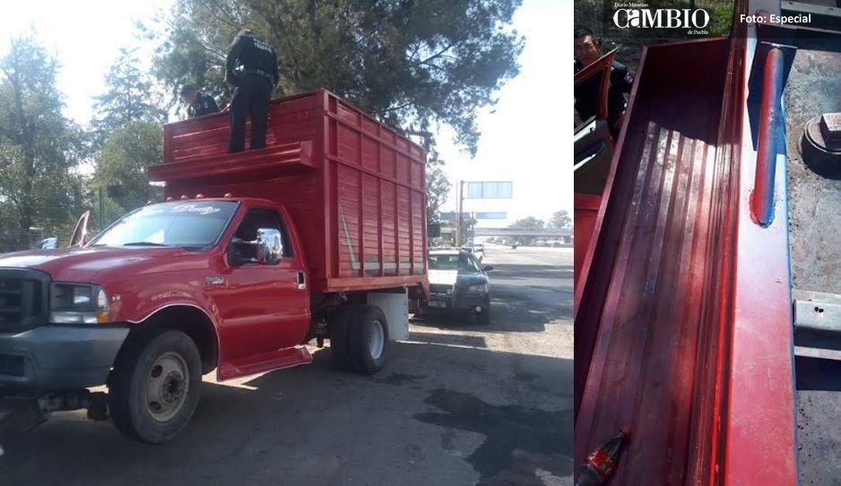 Policía Federal asegura unidad cargada con combustible en contenedor oculto