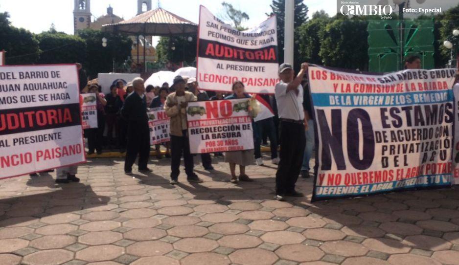 No cesan protestas contra alcalde de San Andrés, Leoncio Paisano