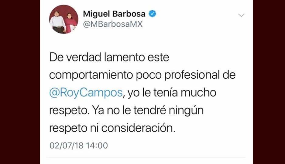 Estalla Barbosa vs Roy Campos por aceptar su equivocación en encuesta de salida