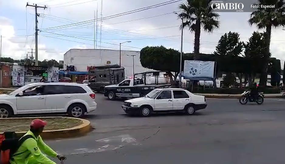Elementos de la Policía Municipal de Texmelucan recuperan unidad con reporte de robo