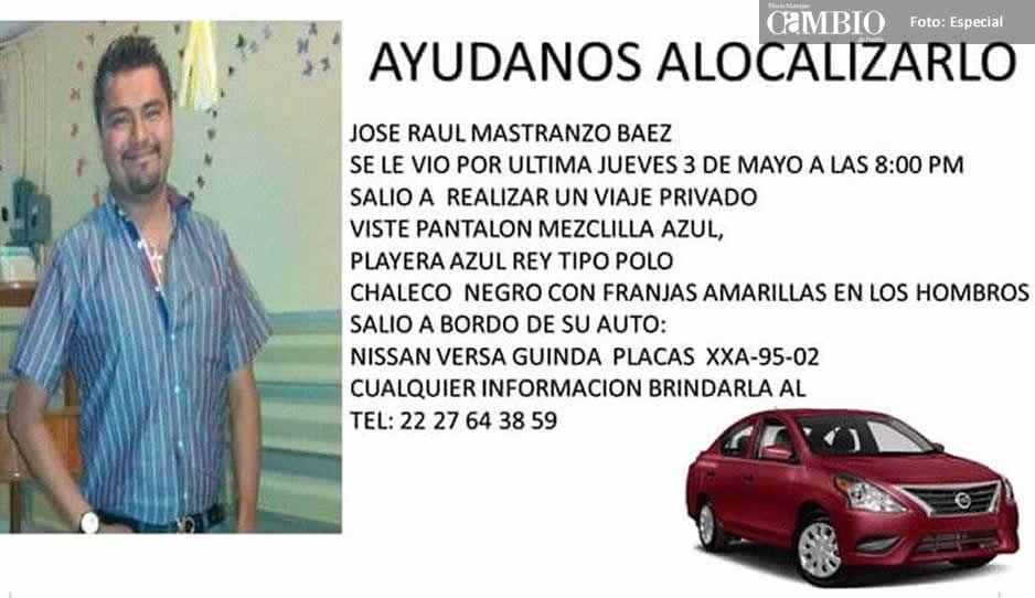 Ayúdanos a localizar a José Raúl Mastanzo, se le vio por última vez el 3 de mayo
