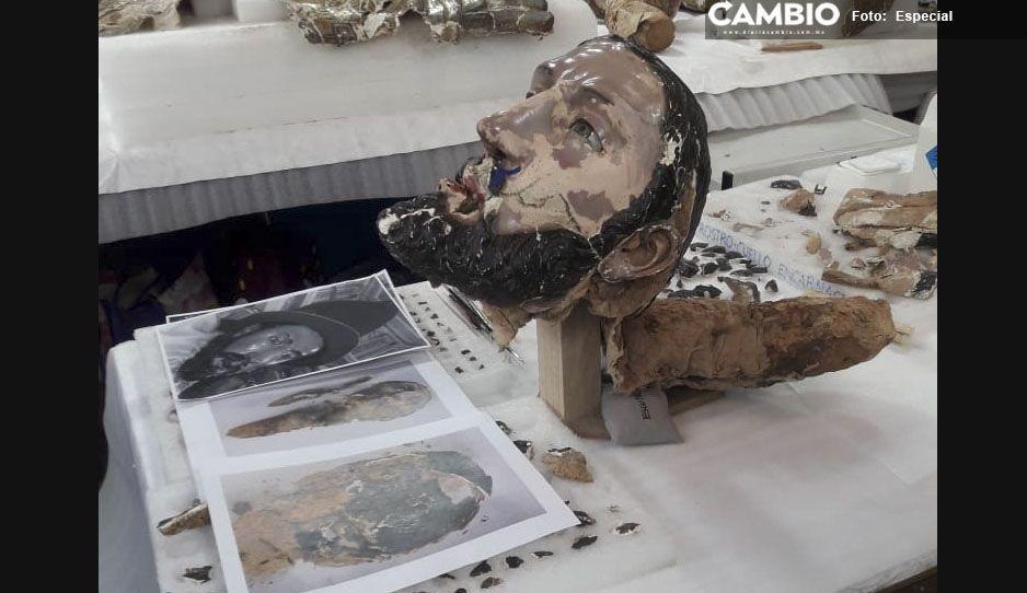 Avanza restauración de Santiago Apóstol, santo patrono de atlixquenses