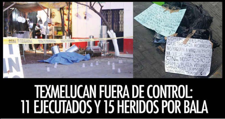 Texmelucan fuera de control: 11 ejecutados y 15 heridos por bala