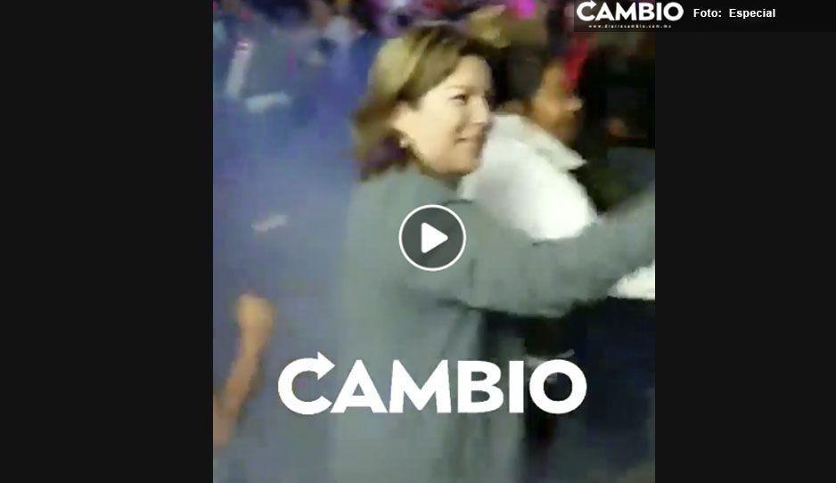 Mientras la inseguridad reina en las calles de Tecamachalco, la alcaldesa Marisol se la pasa bailando (VIDEO)