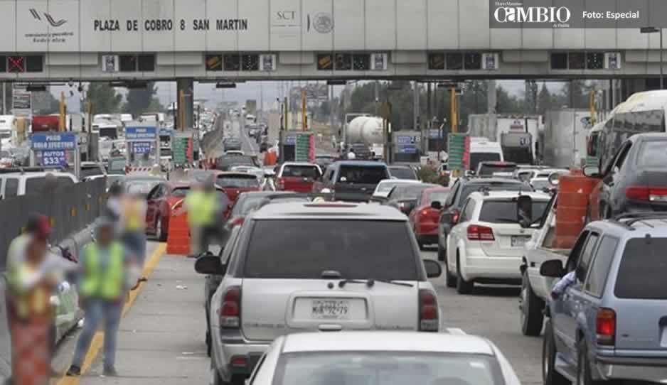 ¡Atraco en autopistas! aumenta el costo en las casetas en Puebla