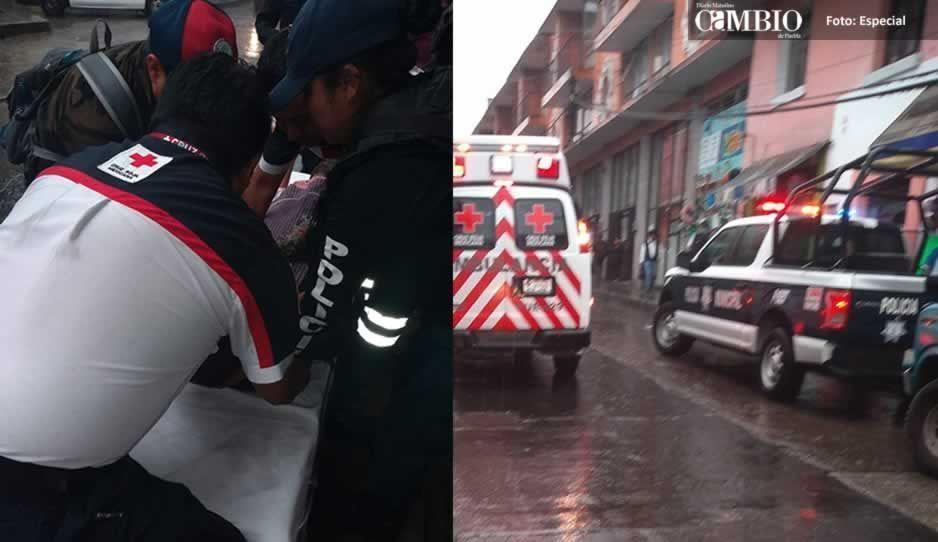 Atropellan a ancianita cuando intentaba cruzar la calle en Teziutlán