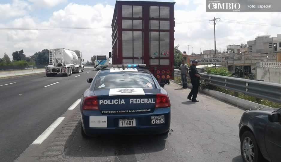 Detienen a sujeto en Texmelucan con camión reportado como robado