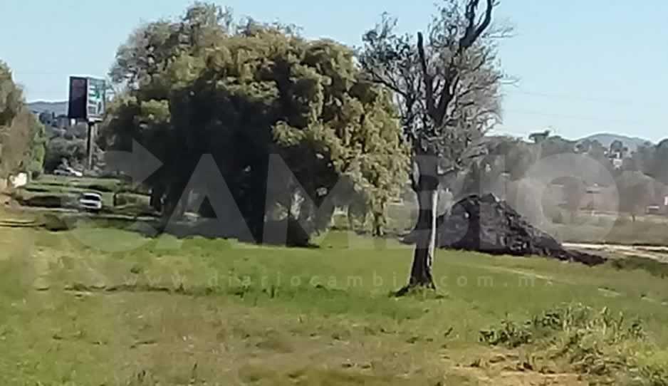 A dos meses de un derrame de combustible en Huejotzingo, inician trabajos de limpieza (FOTOS y VIDEO)
