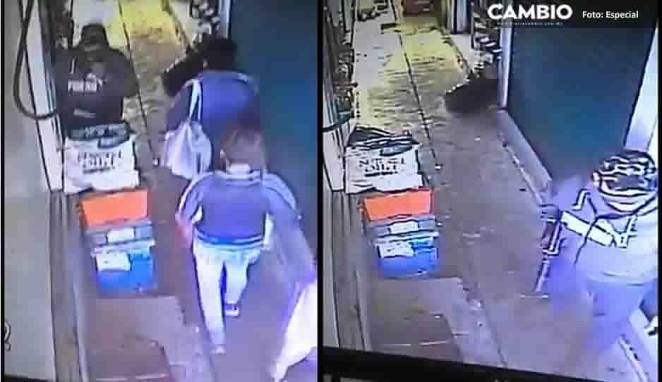 Así asaltaron en el Mercado Morelos; ladrones traían metralleta (VIDEO)