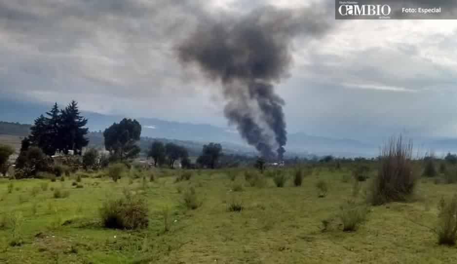 Se incendian dos unidades huachicoleros en Tlalancaleca y Tlahuapan