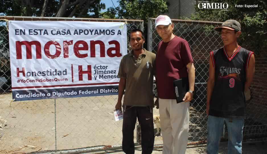 Inicia campaña en Chalchihuapan Héctor Jiménez, candidato a diputado federal por Morena