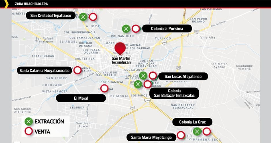 Ubican dos colonias y seis juntas auxiliares  huachicoleras en San Martín Texmelucan