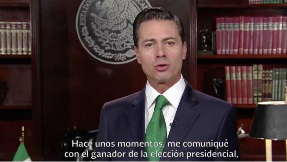 EPN habló con AMLO para felicitarlo por victoria (VIDEO)