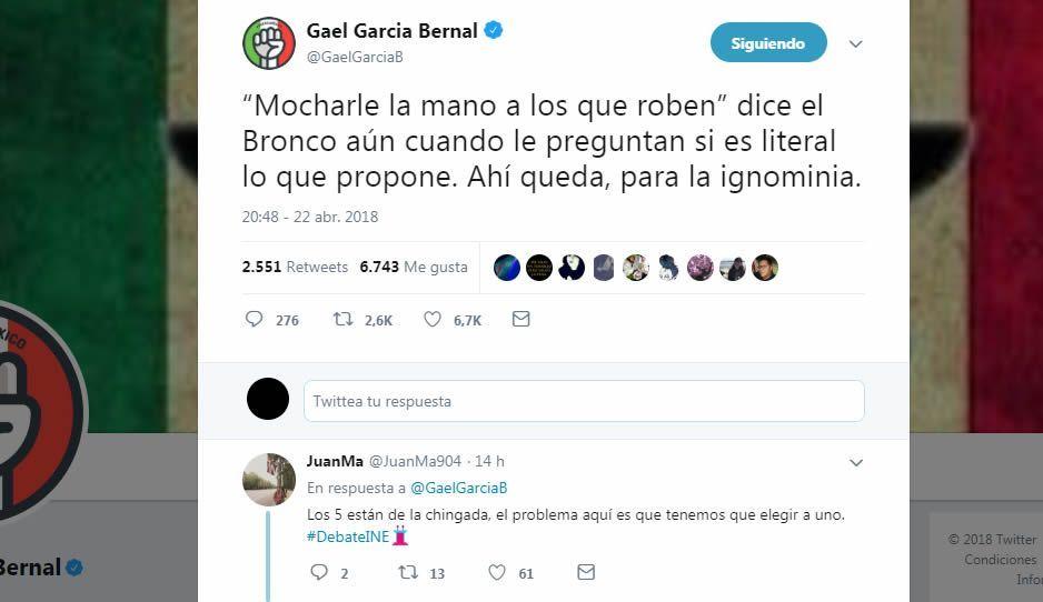Gael García opina sobre el debate presidencial