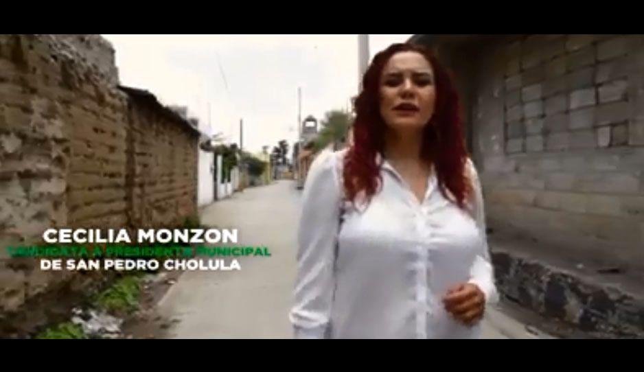 Cecilia Monzón crítica en spot abandono e inseguridad de juntas auxiliares de San Pedro Cholula (VIDEO)