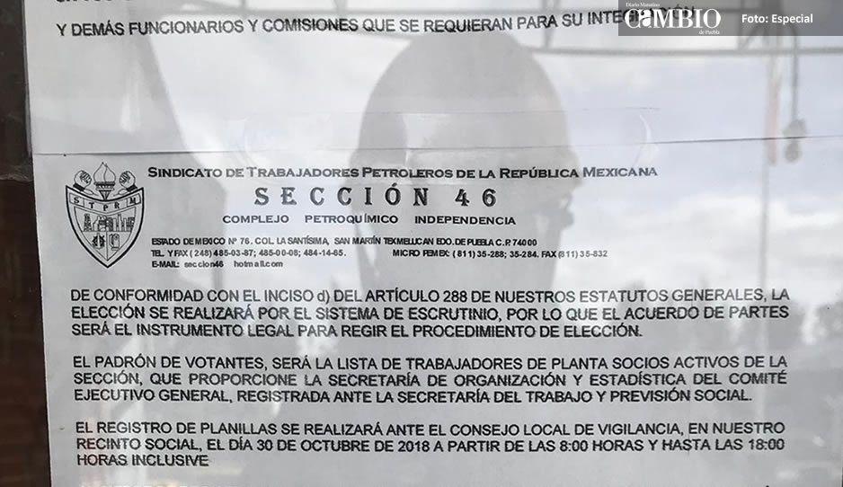 Líder sindical de Pemex en Texmelucan cambia de sede el registro de planillas