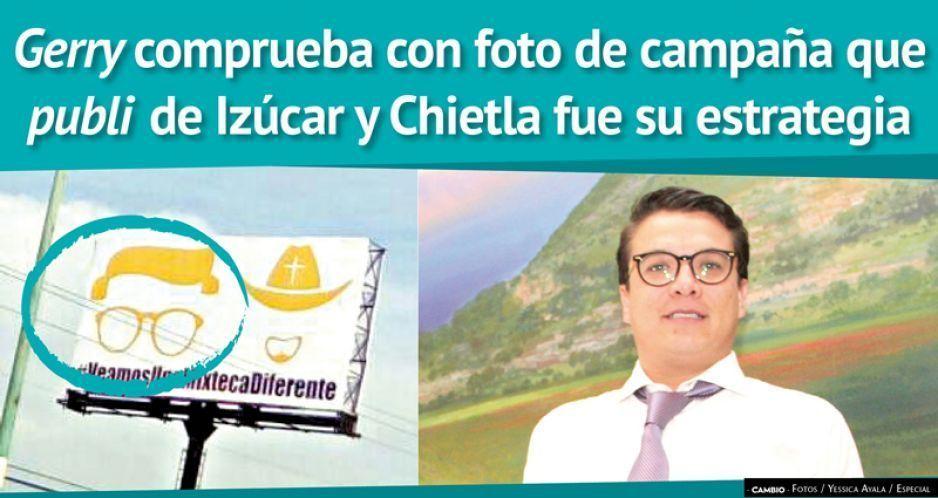 Gerry comprueba con foto de campaña que  publi de Izúcar y Chietla fueron su estrategia