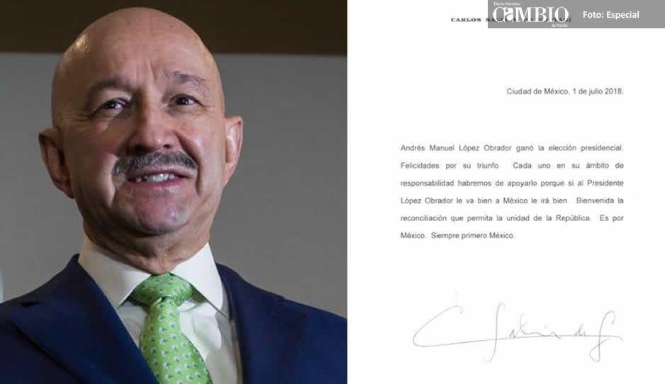 """Salinas de Gortari también felicita a AMLO, """"bienvenida la reconciliación"""""""