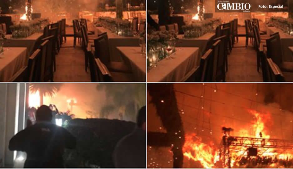 Boda termina en llamas en Jalisco