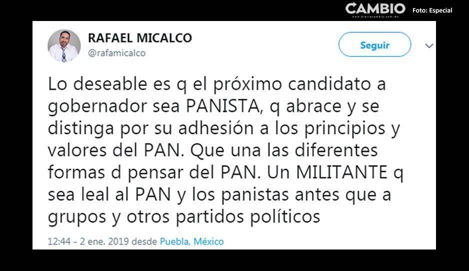 Micalco exige que sea un panista y no un morenovallista quien encabece la candidatura por la gubernatura