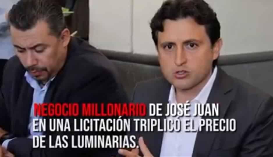 Exhiben en AUDIO que José Juan triplicó costo de luminarias en San Pedro