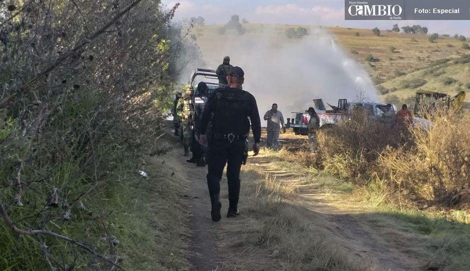 Controlan derrame de combustible en terrenos de cultivo de Tlalancaleca