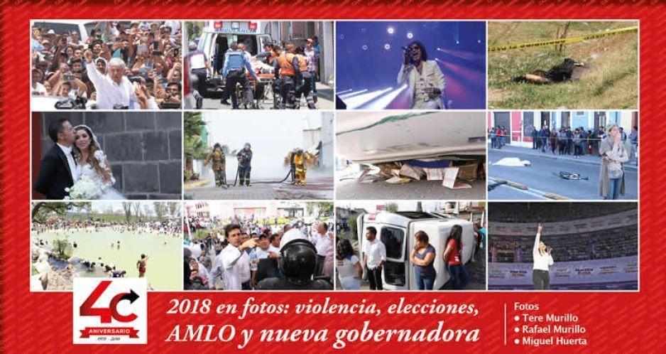 2018 en fotos: violencia, elecciones, AMLO  y la primera gobernadora de Puebla