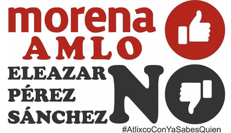 Convocan a Sí AMLO no a Pérez Sánchez en Atlixco