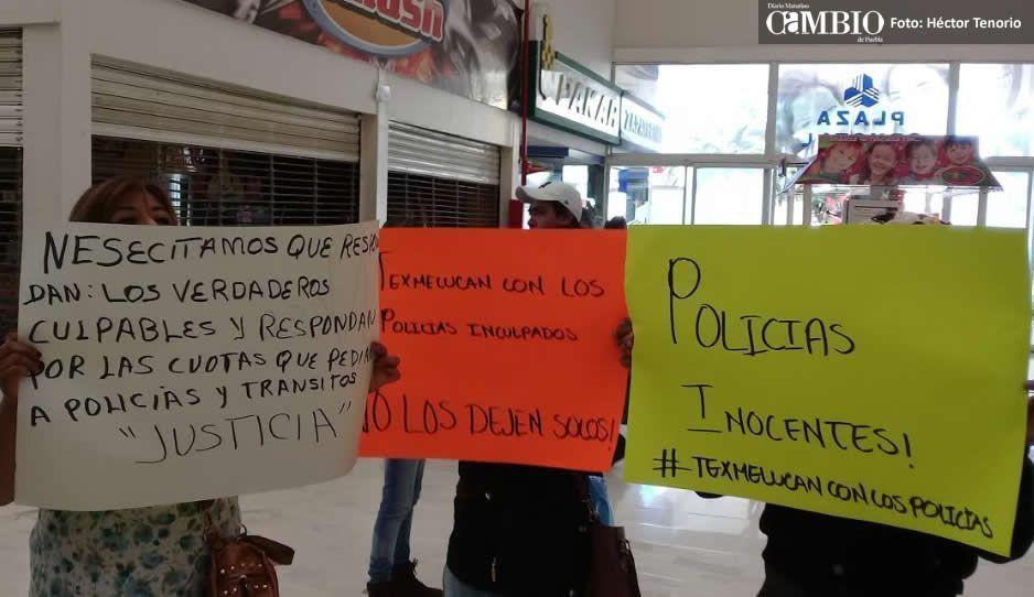 Familiares piden a Gali liberación de policías cachirules; son inocentes, dicen