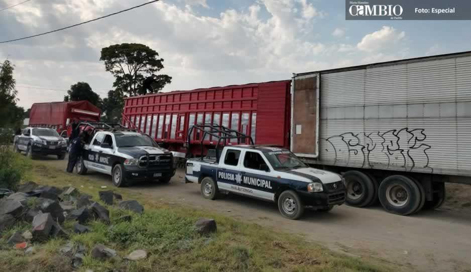 Tras enfrentamiento, policías de Huejotzingo detiene a 15 presuntos ladrones