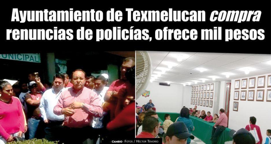 Edil de Texmelucan incumple pago de quincena a polis chuecos