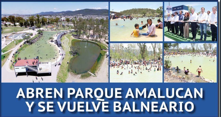 FOTOS Y VIDEO: Abren Parque Amalucan y se vuelve balneario
