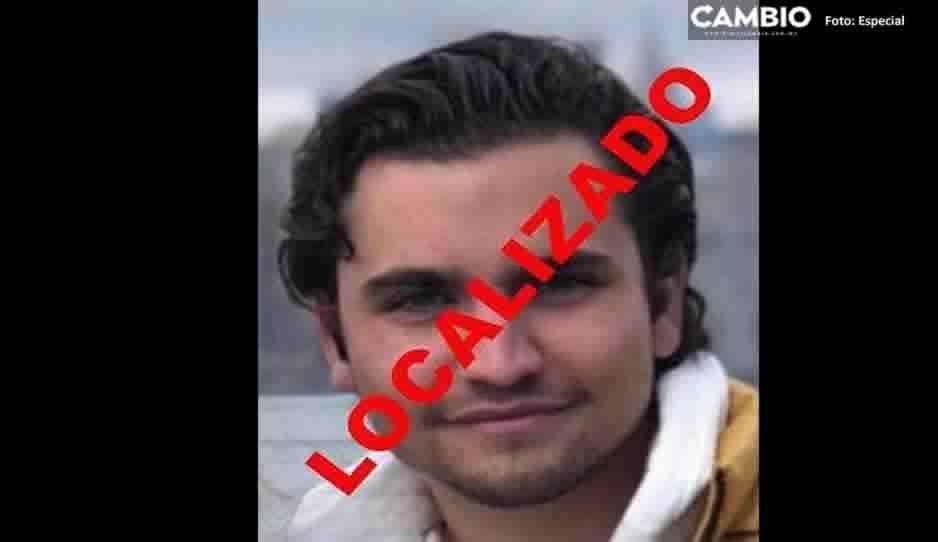 ¡Localizado! Daniel Parás que desapareció en Angelópolis, ya está en su casa