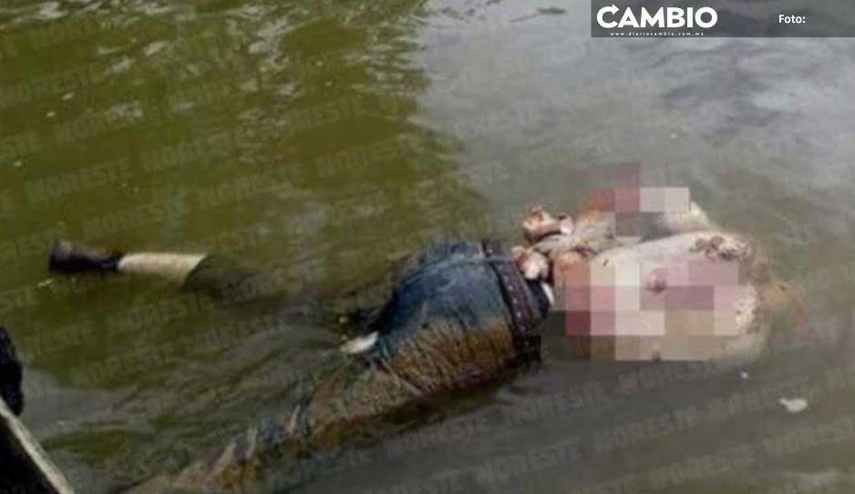 Encuentran cadáver en descomposición en río de Cuetzalan