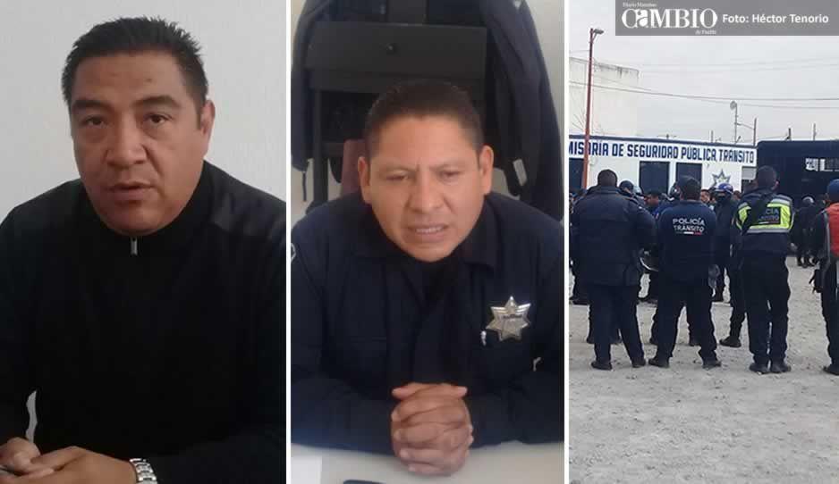 Consignan en FGE a secretario de seguridad, director de policías y 30 elementos cachirules de San Martín