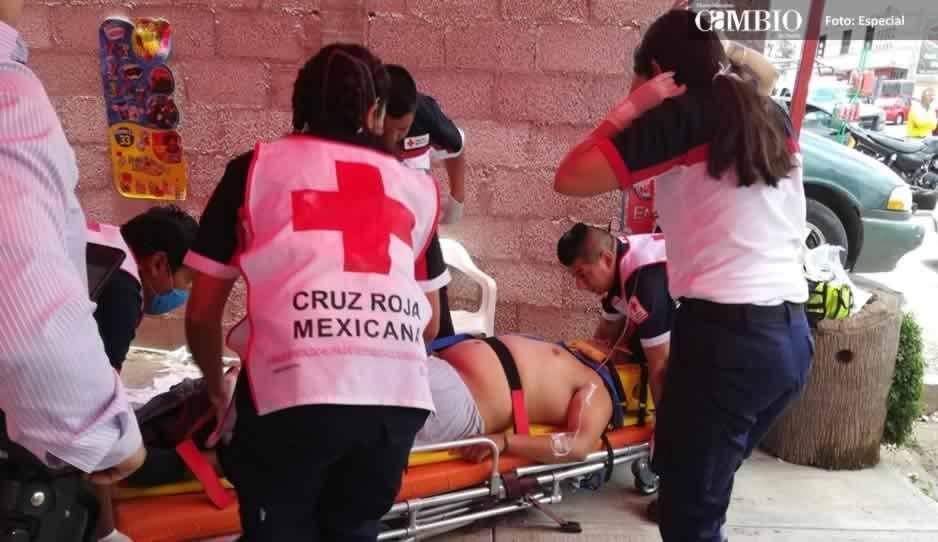Muere uno de los dos asaltantes de joyería en Texmelucan, lesionado tras enfrentamiento