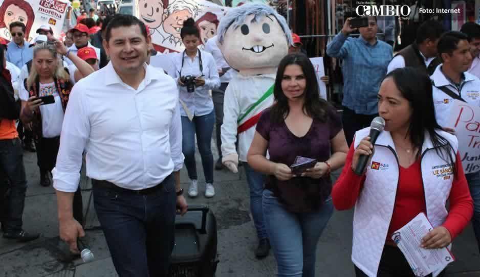 Norma Layón viola ley electoral por presentarse en acto de campaña de Armenta y Lizeth Sánchez