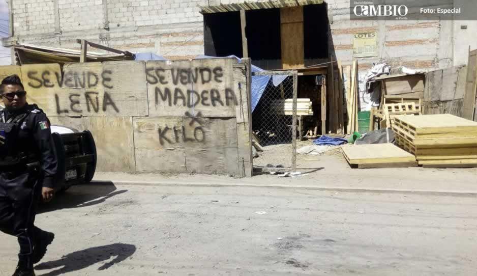 Se suicida al interior de una maderería en Amozoc