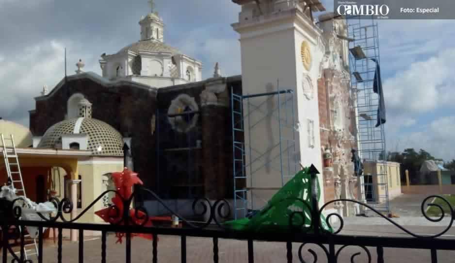 Ciudadanos reparan cinco iglesias de Chiautzingo