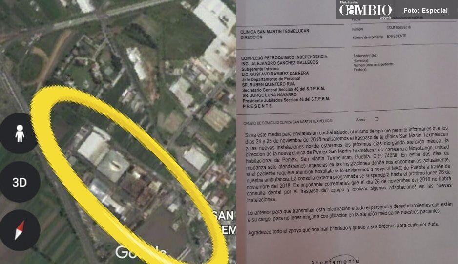 Preocupación en Texmelucan, Clínica de Pemex será reubicada en zona industrial