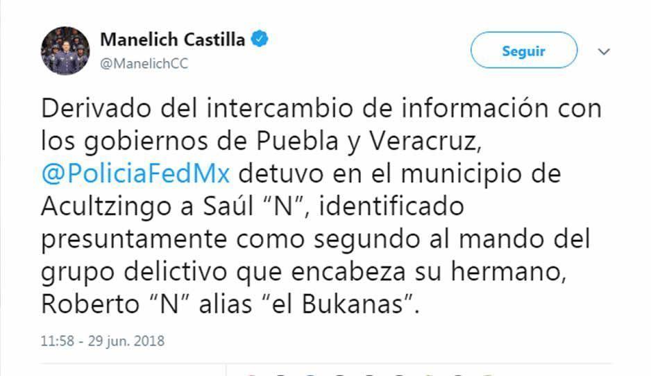 Cae en Veracruz el hermano de El Bukanas, Saúl N