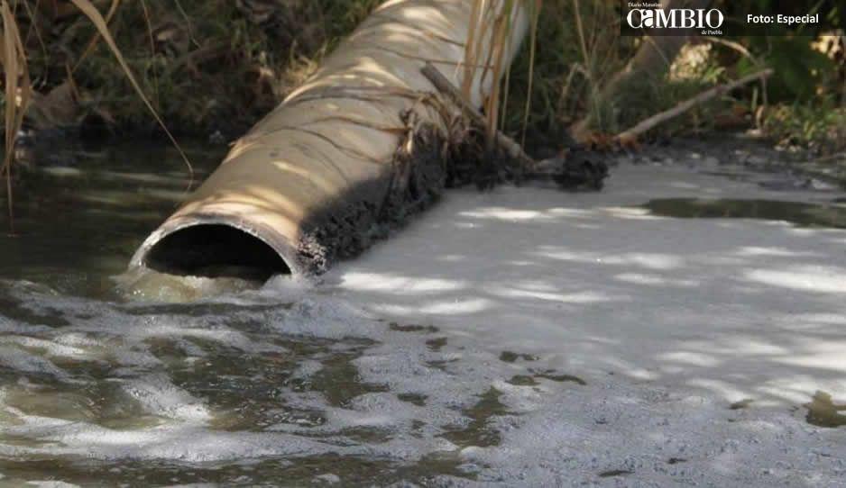 Mantos acuíferos en Huejotzingo contaminados por industria local