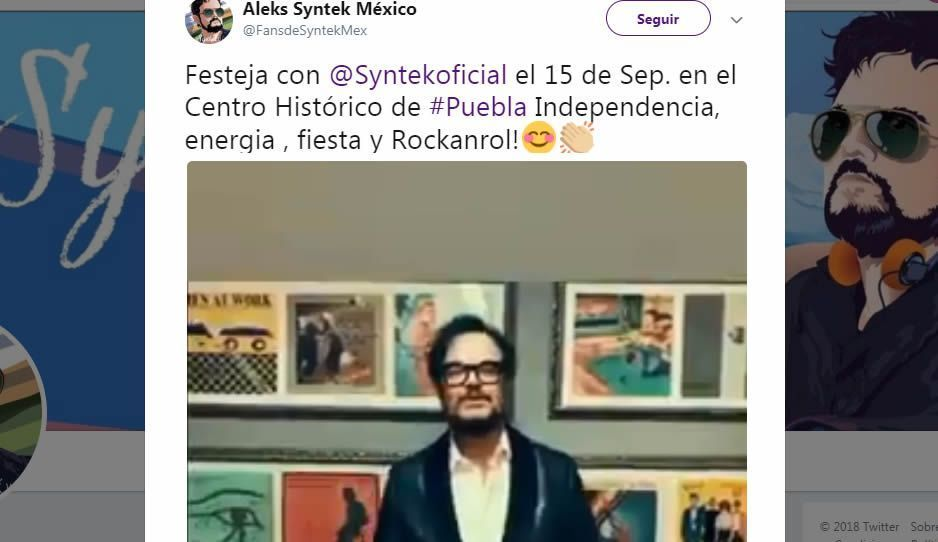 VIDEO: Alex Syntek invita a su concierto gratuito del 15 en el Centro de Puebla