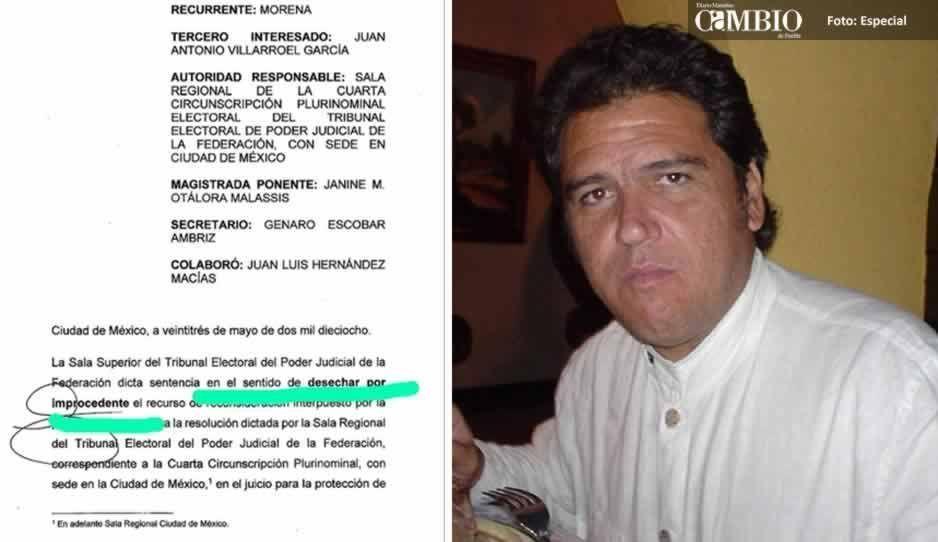 Reafirma TEPJF a Antonio Villarroel como candidato de Morena a la alcaldía de Atlixco